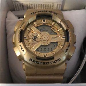 G Shock, Casio, Gold Watch.